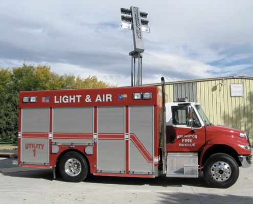 Command Light, Shadow Series, LED Light Tower, Fire Truck Lights, Utility Fire Truck with a Command Light on top