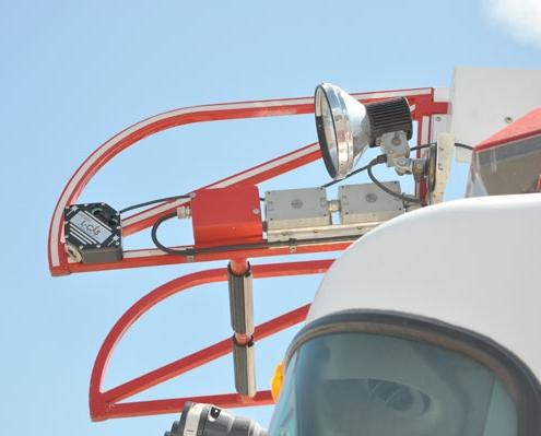 Command Light, L-CAS Series, LED Light Tower, Fire Truck Lights, Laser Collision Avoidance System on fire truck ladder