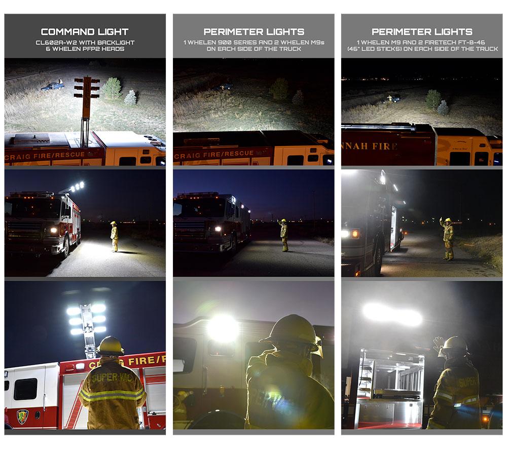 Command Light, Light Studies, LED Light Tower, Fire Truck Lights