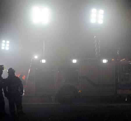 Command Light, Command Lights on Fire Truck in the Fog, LED Light Tower, Fire Truck Lights